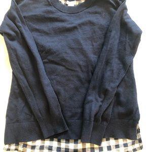 Crewcuts girls navy knit shirt size 12